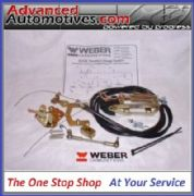 WEBER 40 45 50 DCOE/SP TWIN CABLE THROTTLE LINKAGE BOTTOM MOUNT KIT LP4000